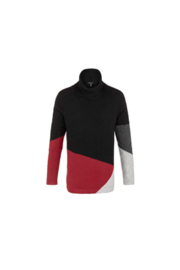 Tribal  Triba LONG SLEEVE COLOR BLOCK SWEATER - Product Mini Image