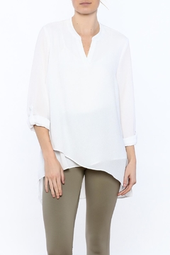 Tribal White Asymmetric Top - Product List Image