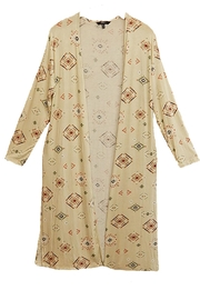 Tresics Tribal Beige Cardigan - Product Mini Image