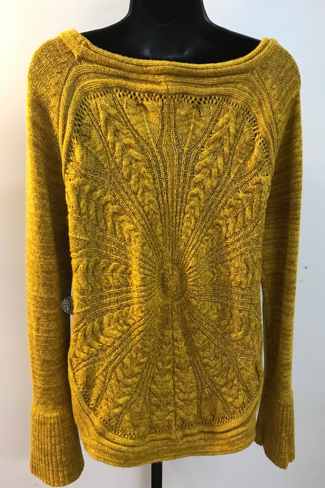 Tribal Bell Sleeve Sweater - Front Full Image