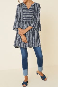 Hayden Los Angeles Tribal Bell Sleeve Tunic - Product List Image