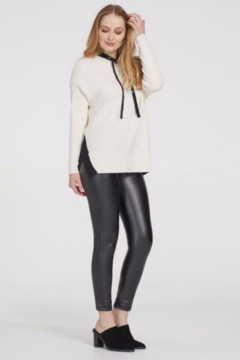 Shoptiques Product: Tribal Birch with Black Trim Sweater Hoodie 67500/4247/1290
