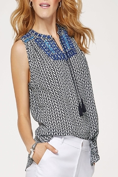 Tribal Black & Blue Top - Product List Image