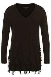 Tribal Black Fringed Top - Product Mini Image