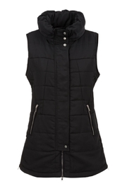Tribal Black Sleeveless Vest - Front cropped