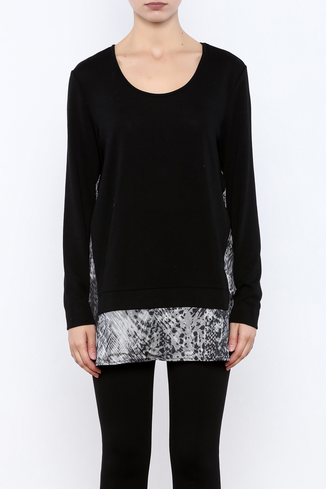 Tribal Black Sweater - Side Cropped Image