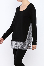 Tribal Black Sweater - Front cropped