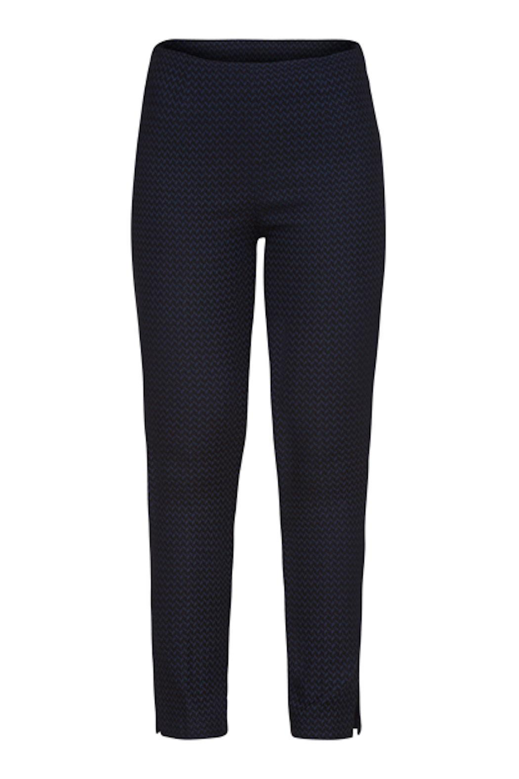 Tribal Blue Black Pant - Front Cropped Image