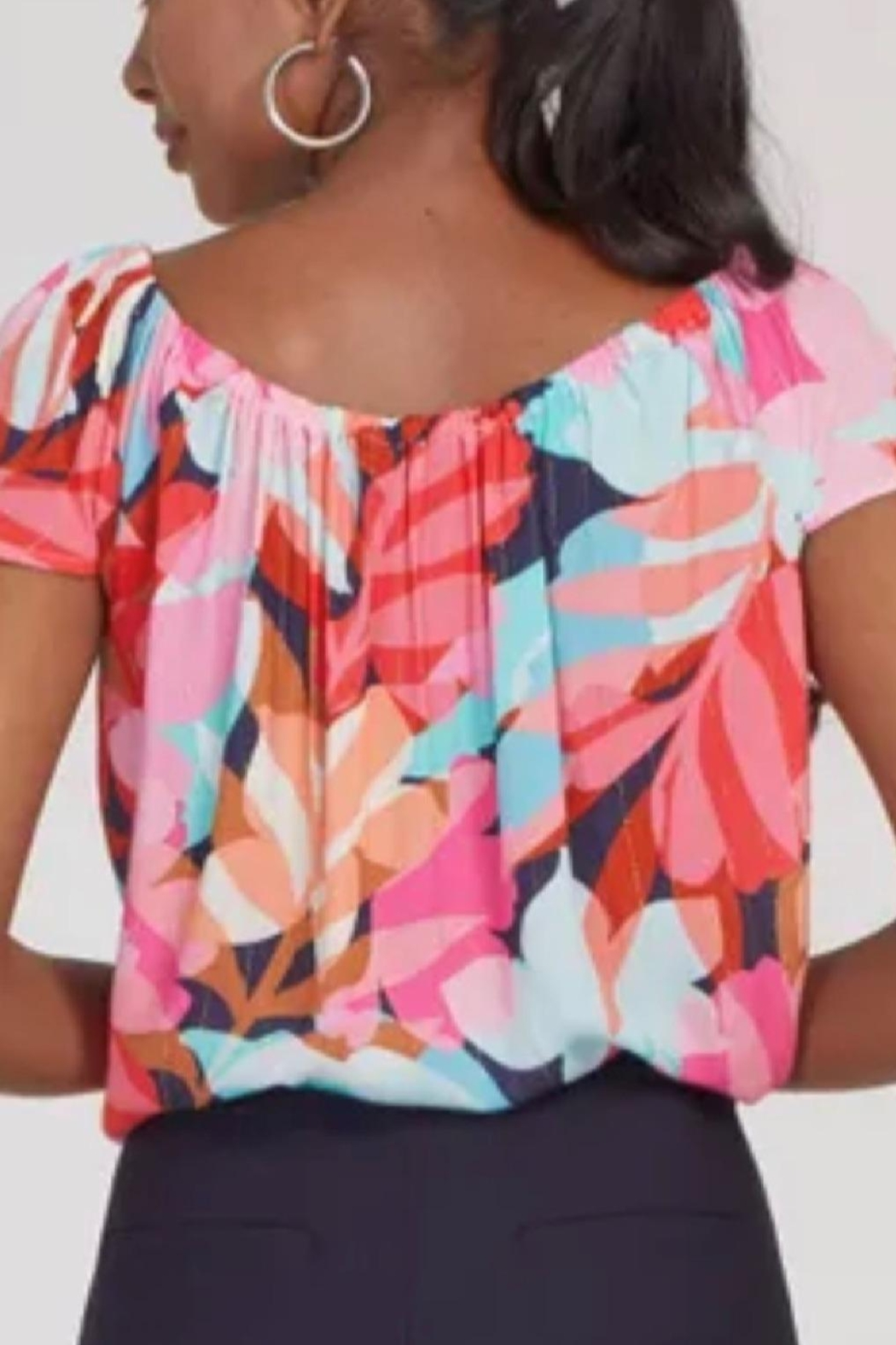 Tribal Bright Summer Top - Front Full Image