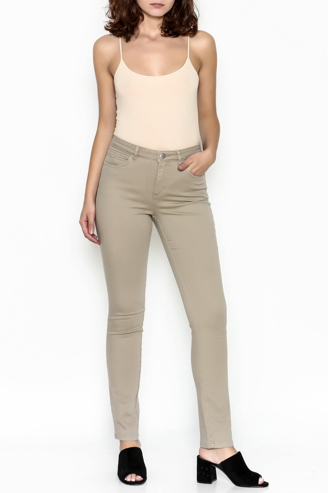 Tribal Brushed Twill Jeans - Side Cropped Image