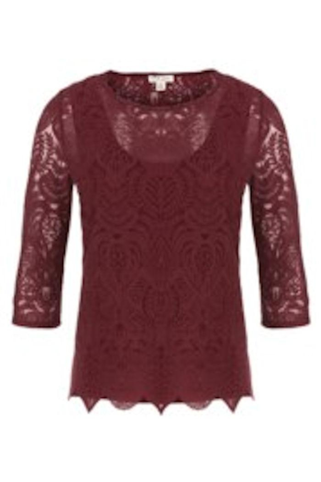 6579c3abe34 Tribal Burgundy Lace Top from Canada by Linda s Fashion — Shoptiques