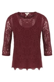 Tribal Burgundy Lace Top - Product Mini Image