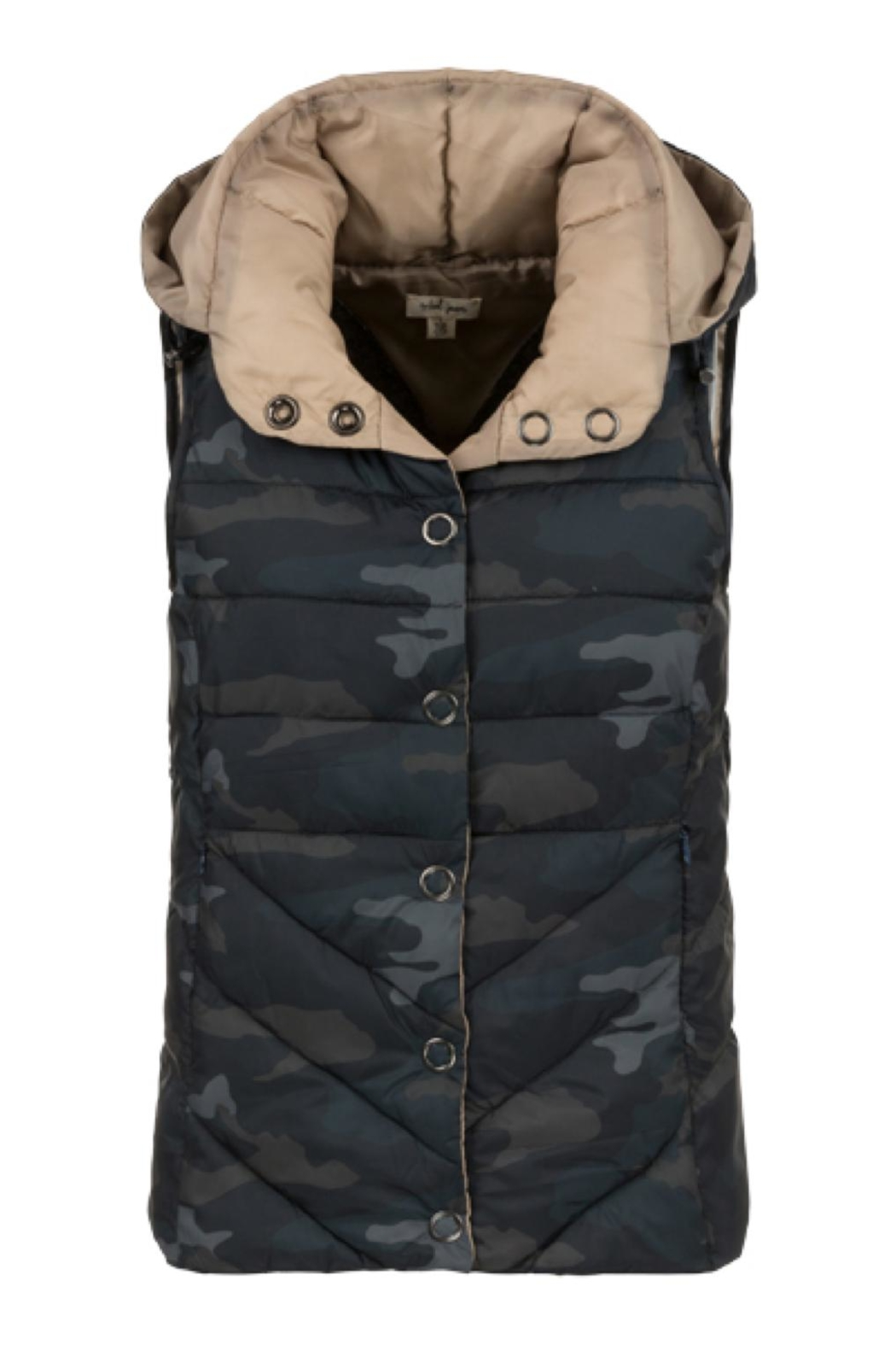 Tribal Camouflage Hooded Vest - Main Image