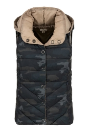 Tribal Camouflage Hooded Vest - Front cropped