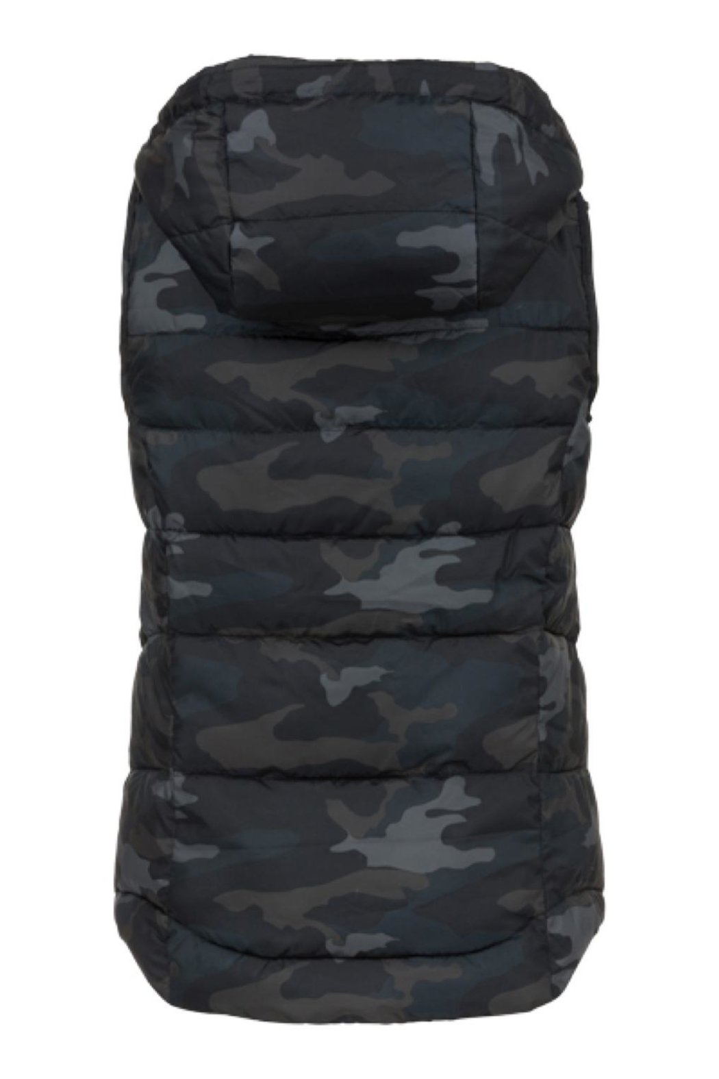 Tribal Camouflage Hooded Vest - Front Full Image