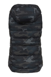 Tribal Camouflage Hooded Vest - Front full body
