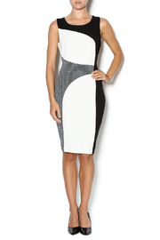 Tribal Color Block Sheath Dress - Front full body