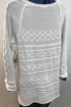 Tribal Cotton Cable Knit Sweater - Alternate List Image
