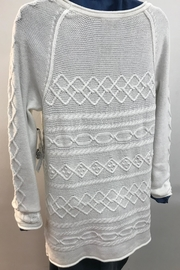 Tribal Cotton Cable Knit Sweater - Front full body
