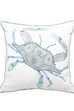 Shoptiques Product: Sea Glass Tribal Crab Indoor/Outdoor Pillow