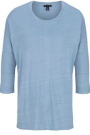 Tribal  crew neck top with back stripe - Product Mini Image