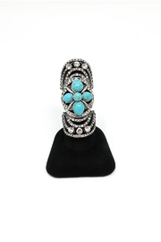 Nadya's Closet Tribal Crystal Metal-Ring - Front cropped