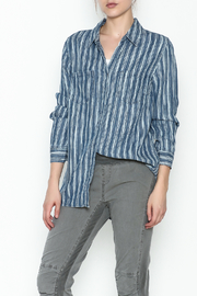Tribal Denim Stripe Shirt - Front cropped