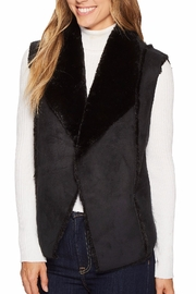 Tribal Faux Fur Vest - Product Mini Image