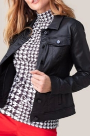 Tribal Faux Leather Jacket - Front cropped