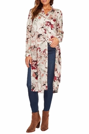 Tribal Floral Duster Shirt - Product Mini Image