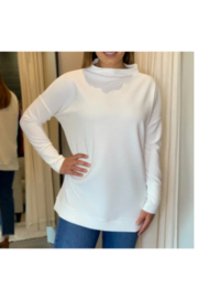 Tribal  Funnel Neck Tunic - Cream - Product Mini Image