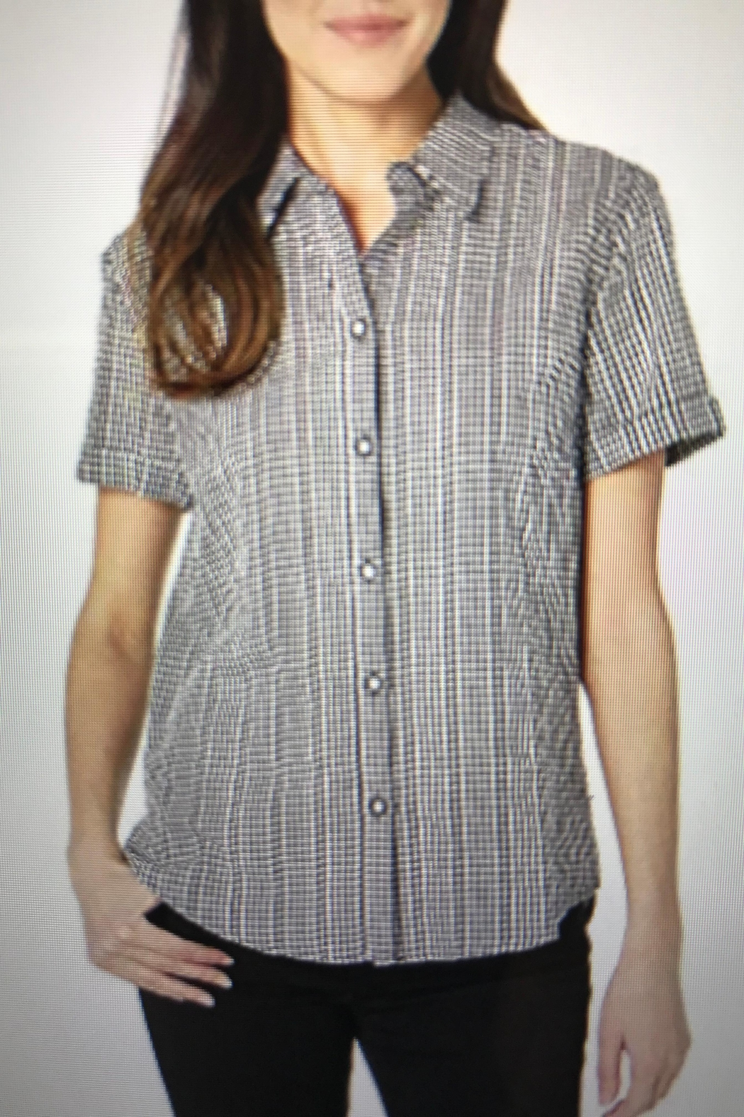 Tribal Gingham Camp Shirt - Front Cropped Image