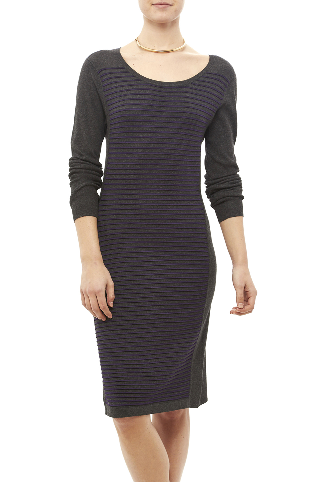 Tribal Gray Stripe Dress - Main Image