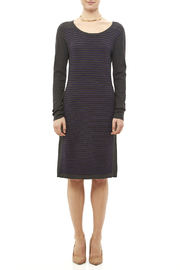Tribal Gray Stripe Dress - Front full body