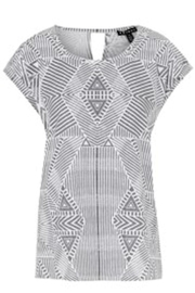 Tribal Grey/white Top - Product Mini Image