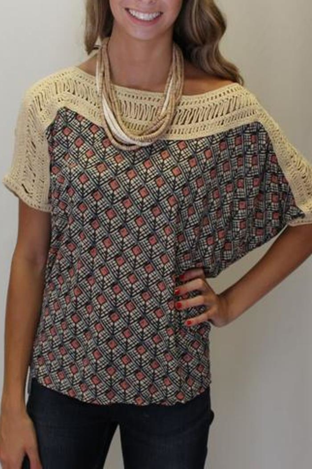 Free People Tribal Grunge Top - Side Cropped Image