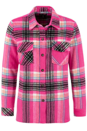 Tribal  Hot Pink Jacket Shirt 43770/3131/0490 - Front cropped