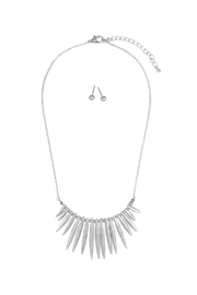 Riah Fashion Tribal-Inspired-Necklace With Stud-Earrings - Product Mini Image