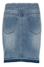 Tribal Jean Skirt - Front cropped