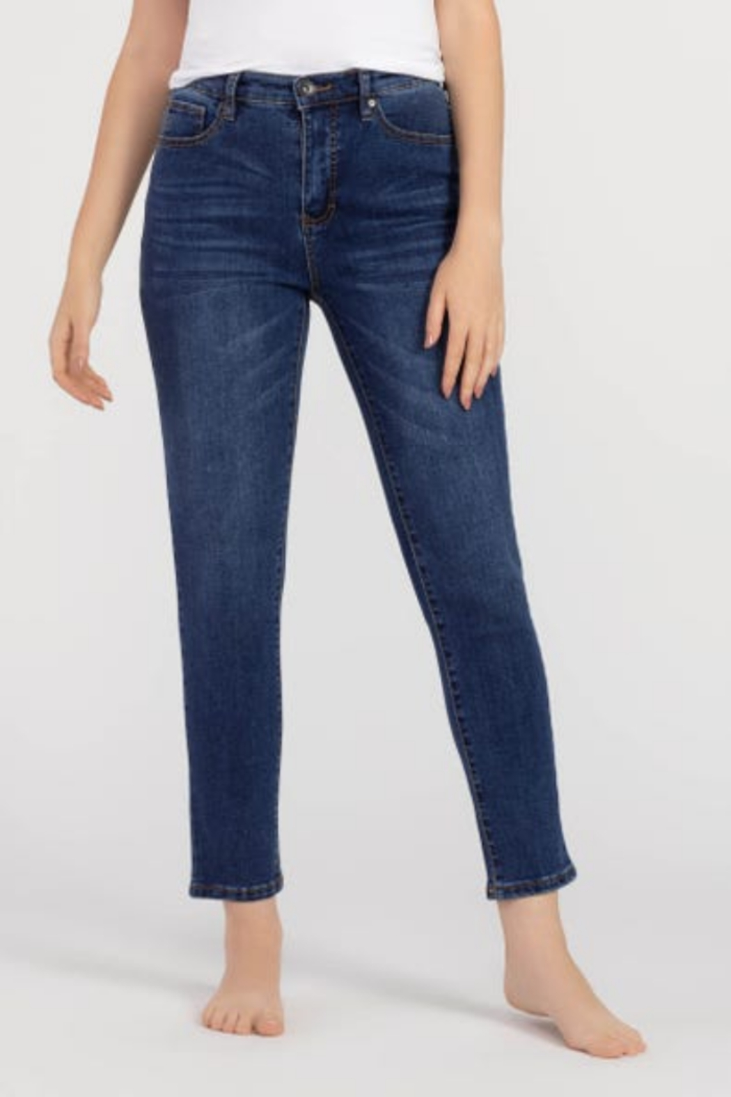 tribal  Tribal Jeans 65330 High-Rise Slim Ankle - Main Image