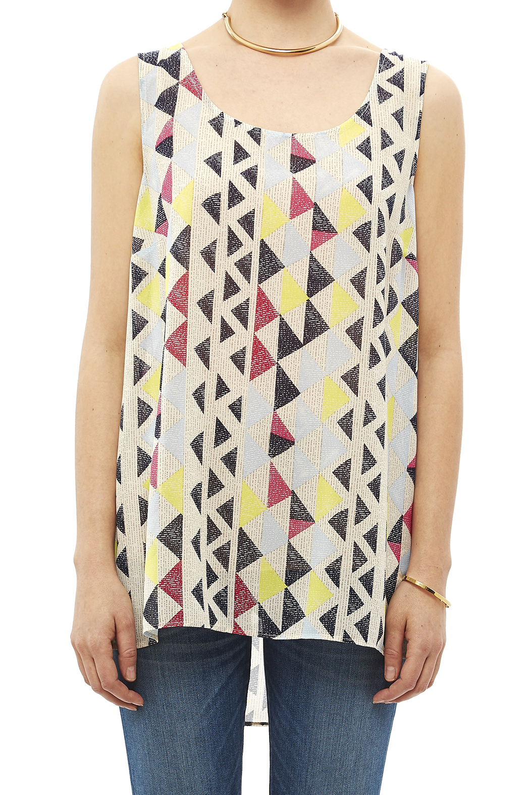 Tribal Jeans Colorful Tunic Tank - Side Cropped Image