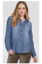 Tribal  Jeans Denim Blue Button Down Shirt - Product Mini Image