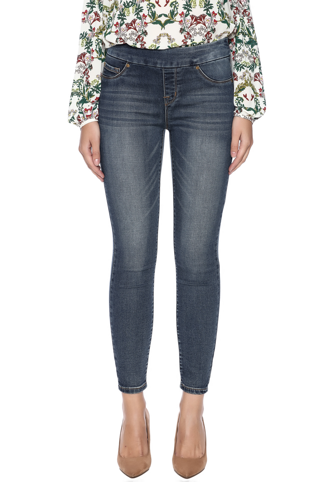 Tribal Jeans Distressed Jean - Side Cropped Image