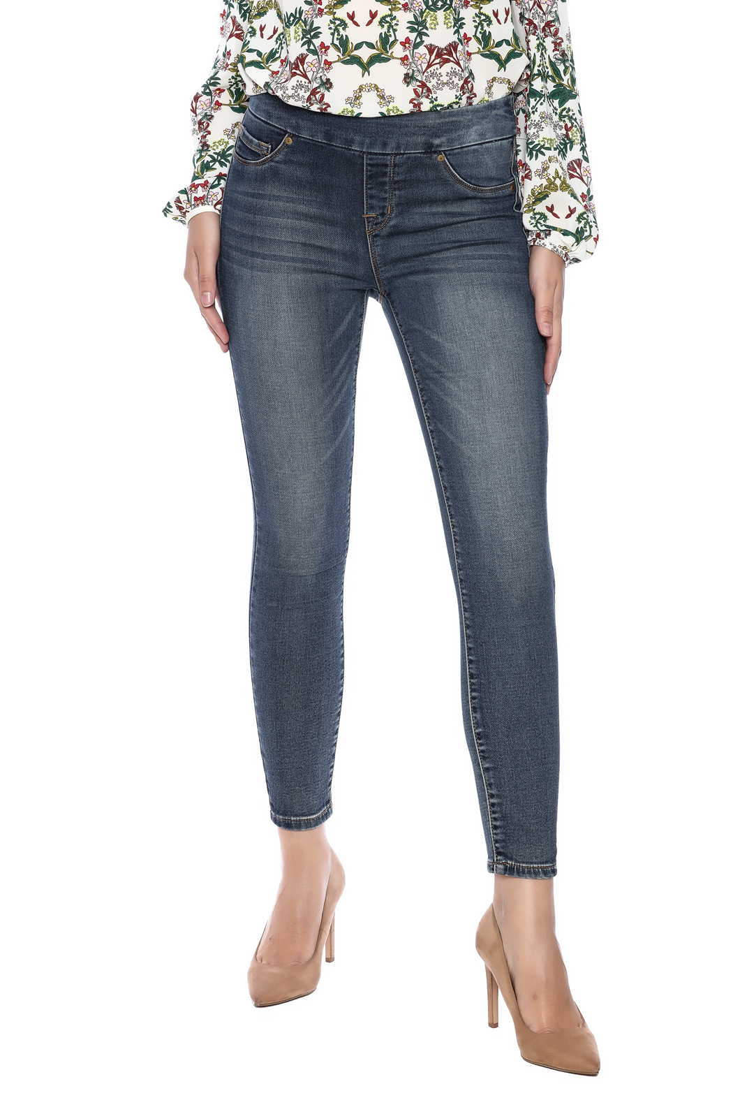 Tribal Jeans Distressed Jean - Main Image