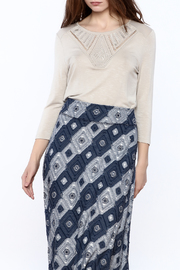 Tribal Jeans Taupe Top - Product Mini Image