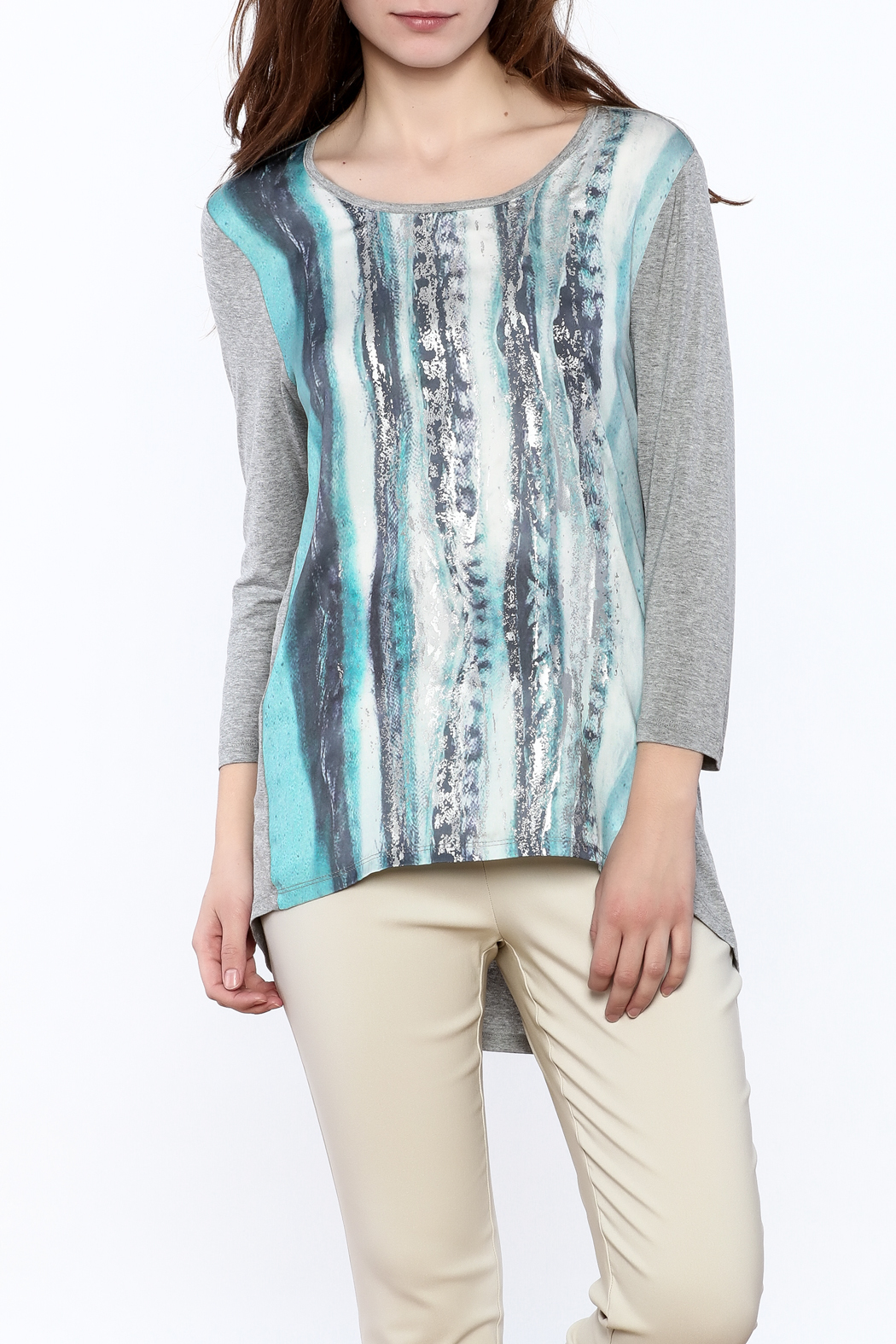 Tribal Jeans Graphic Tunic Top - Main Image