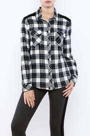 Tribal Jeans Persuede Me Plaid Top - Product Mini Image