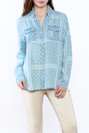 Tribal Jeans Denim Button-Down Top - Product Mini Image