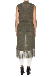 Tribal Jeans Sleeveless Fringe Sweater Vest - Back cropped