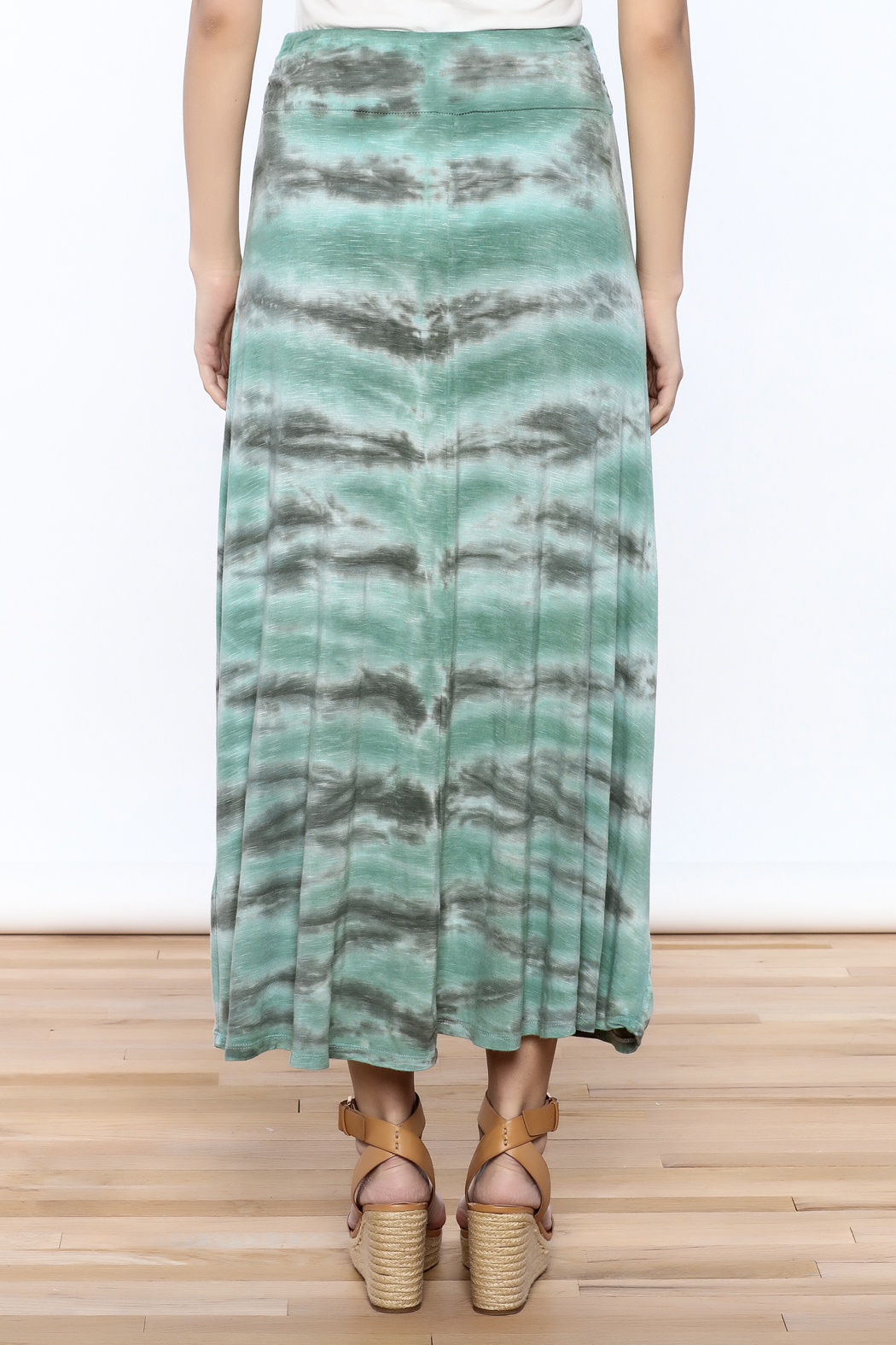 Tribal Jeans Tie Dye Maxi Skirt - Back Cropped Image